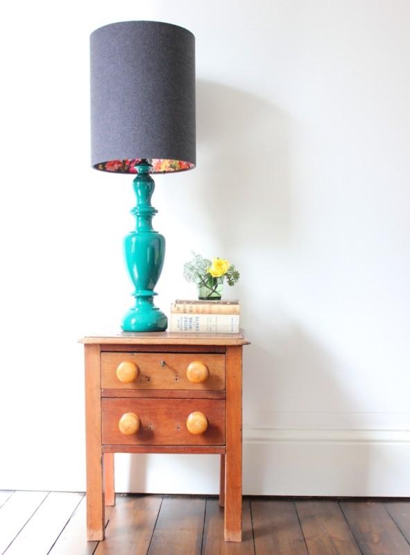 Charcoal vase lamp new