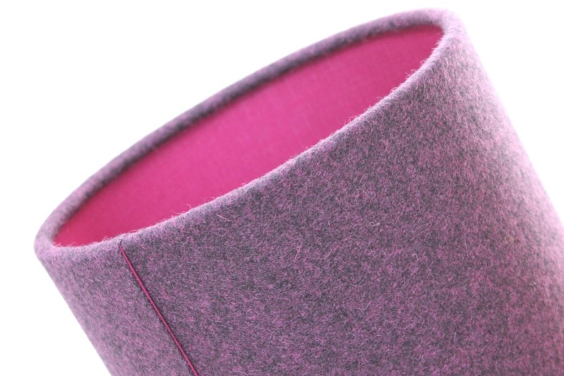 Heather marl fuschia detail com